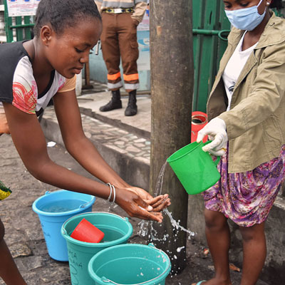 Handwashing campaign in Fort Dauphin